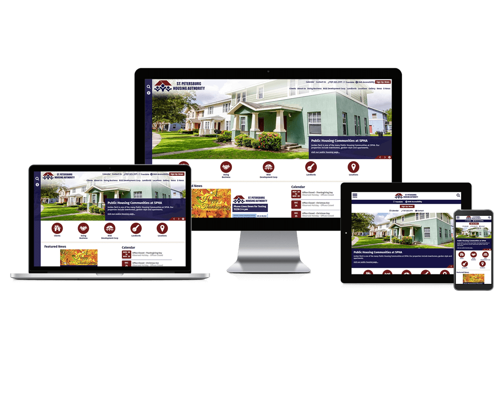 St. Petersburg Housing Authority, Florida - Responsive Website