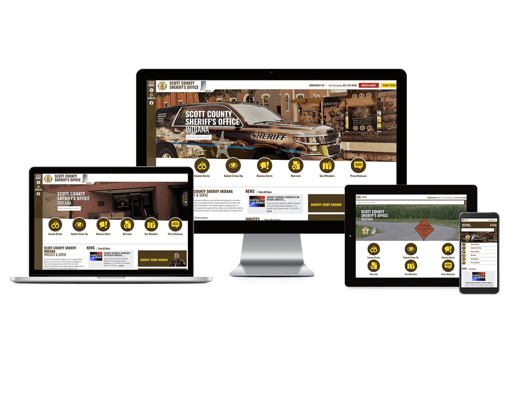 Scott County Sheriff's Office, Indiana - Responsive Website