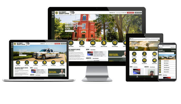 Ida County Sheriff's Office, Iowa - Responsive Website