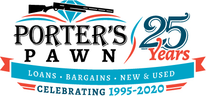 Porter's Pawn - 25th Anniversary Logo