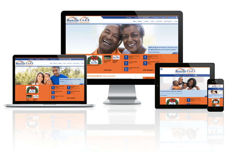 Monroe Housing Authority, North Carolina - Responsive Website