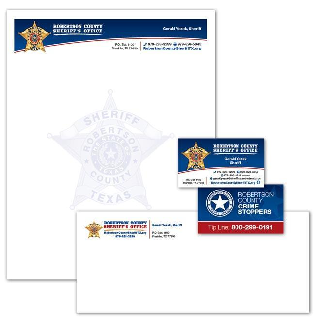Robertson County Sheriff's Office, Texas - Stationery and Business Cards