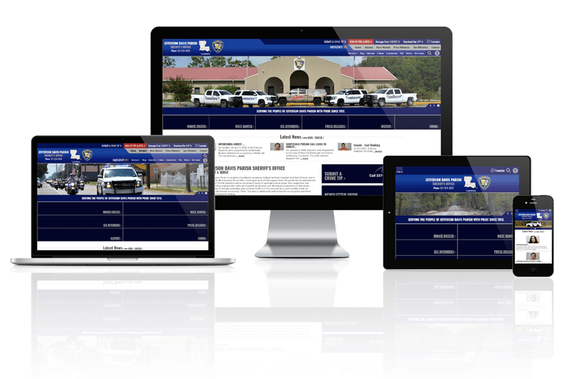 Jefferson Davis Parish Sheriff - Responsive Website