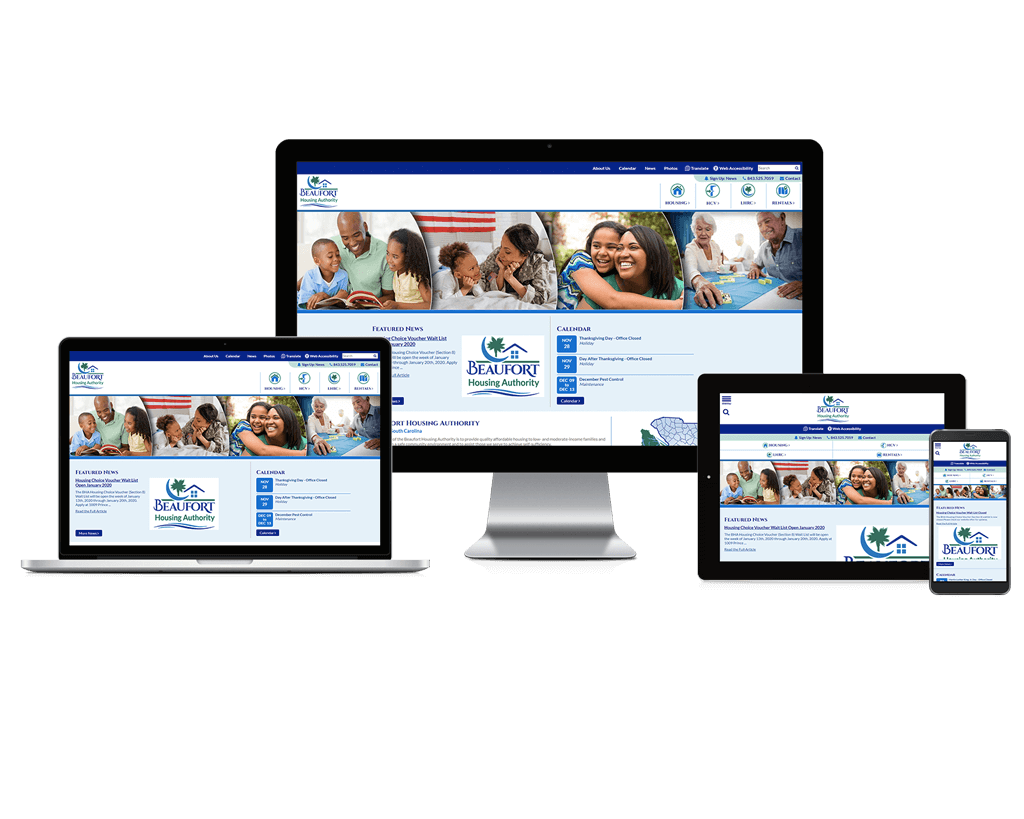 Beaufort Housing Authority, South Carolina - Responsive Website