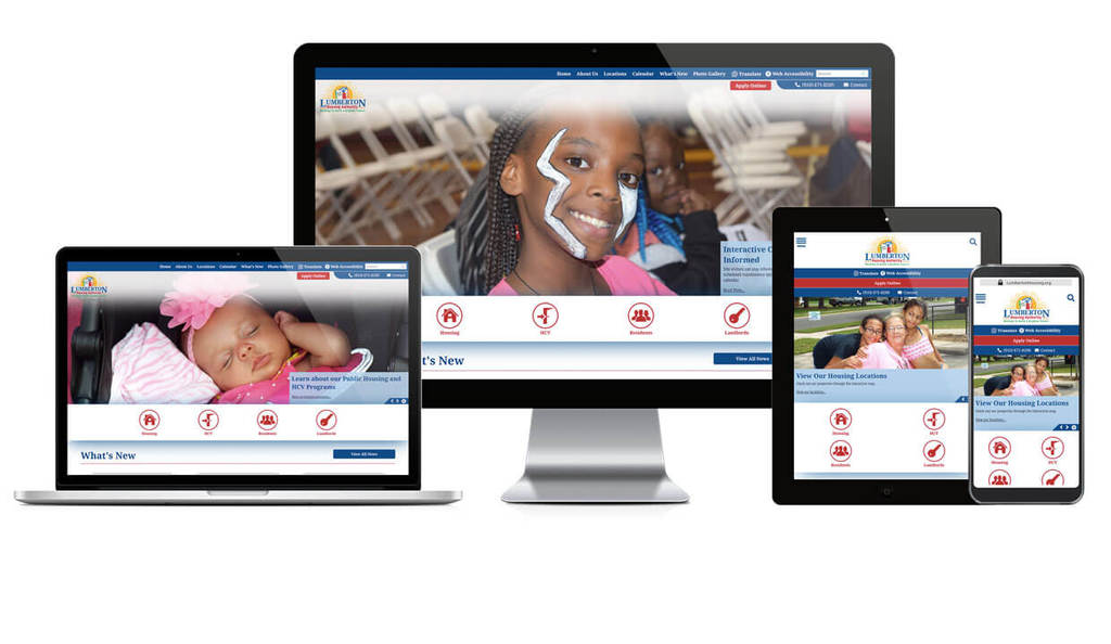 Lumberton Housing Authority, North Carolina - Responsive Website