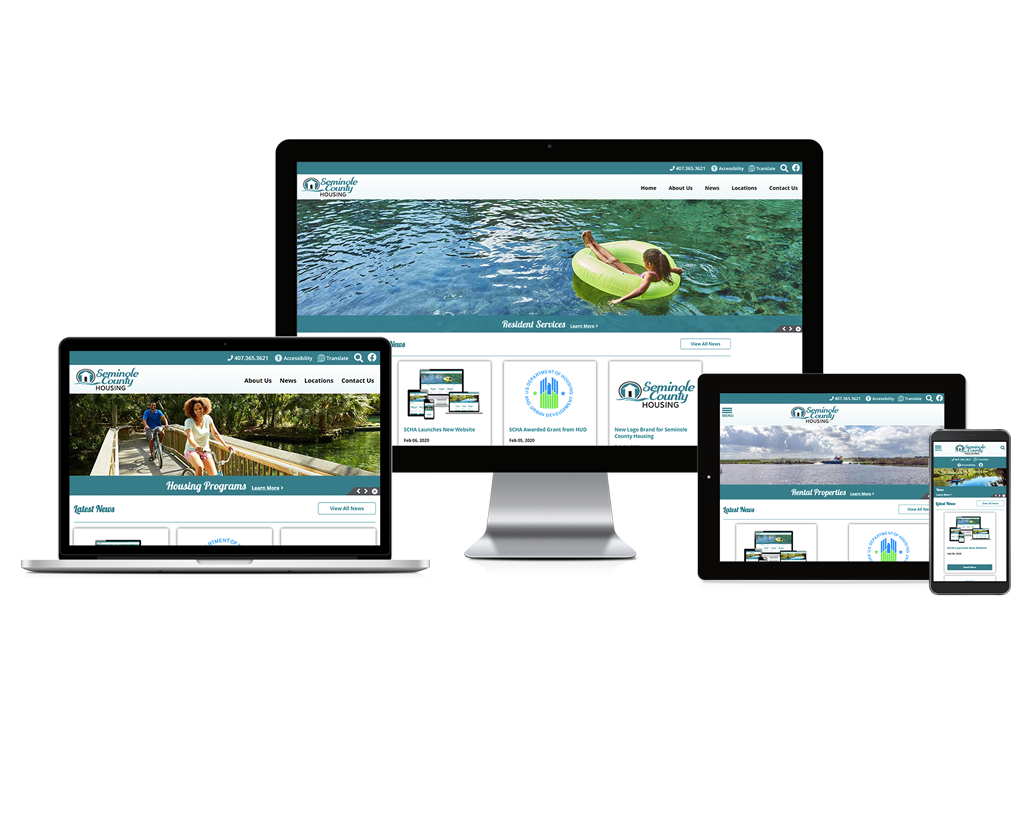 Seminole County Housing Authority, Florida - Responsive Website