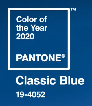Color of the Year 2020 PANTONE Classic Blue 19-4052