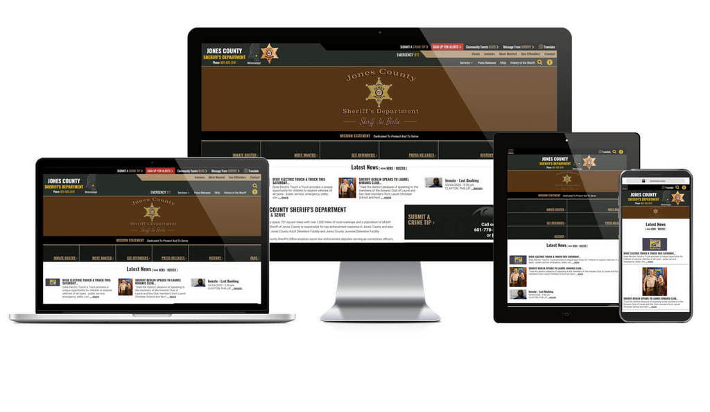 Jones County Sheriff's Office, Mississippi - Responsive Website