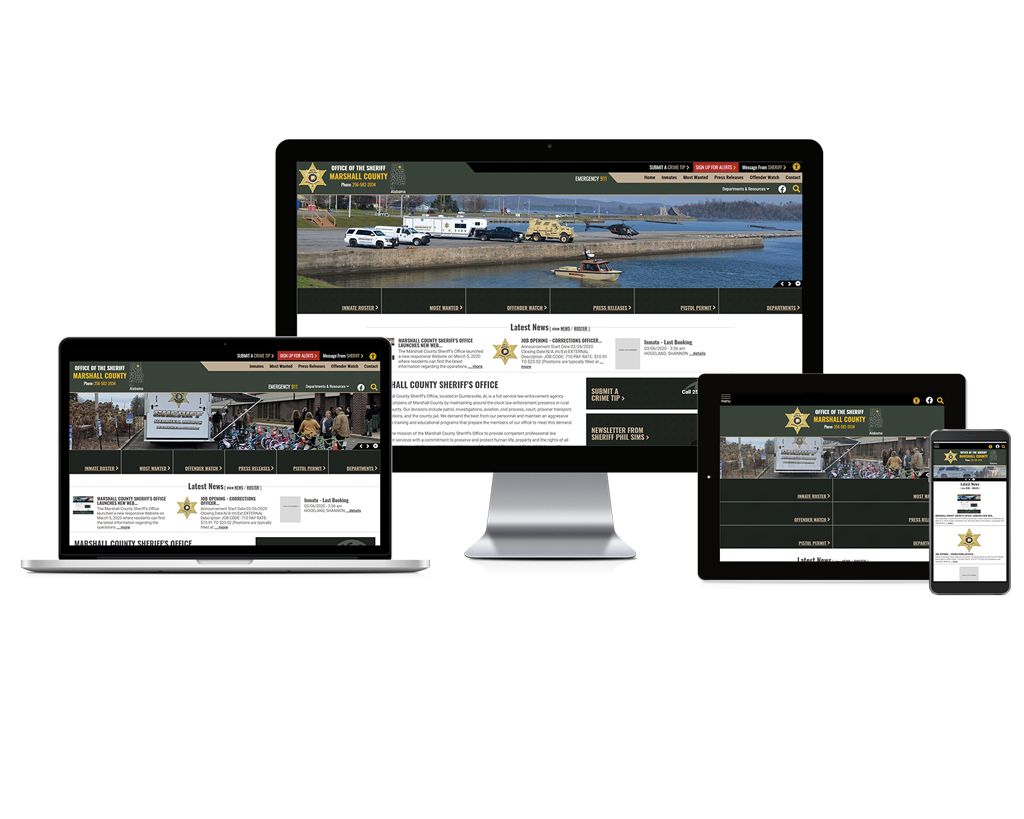 Marshall County Sheriff's Office, Alabama - Responsive Website