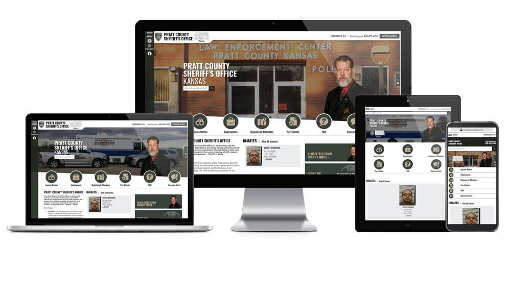 Pratt County Sheriff's Office, Kansas - Responsive Website