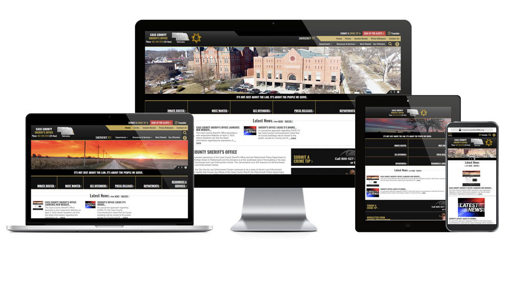 Cass County Sheriff's Office, Nebraska - Responsive Website