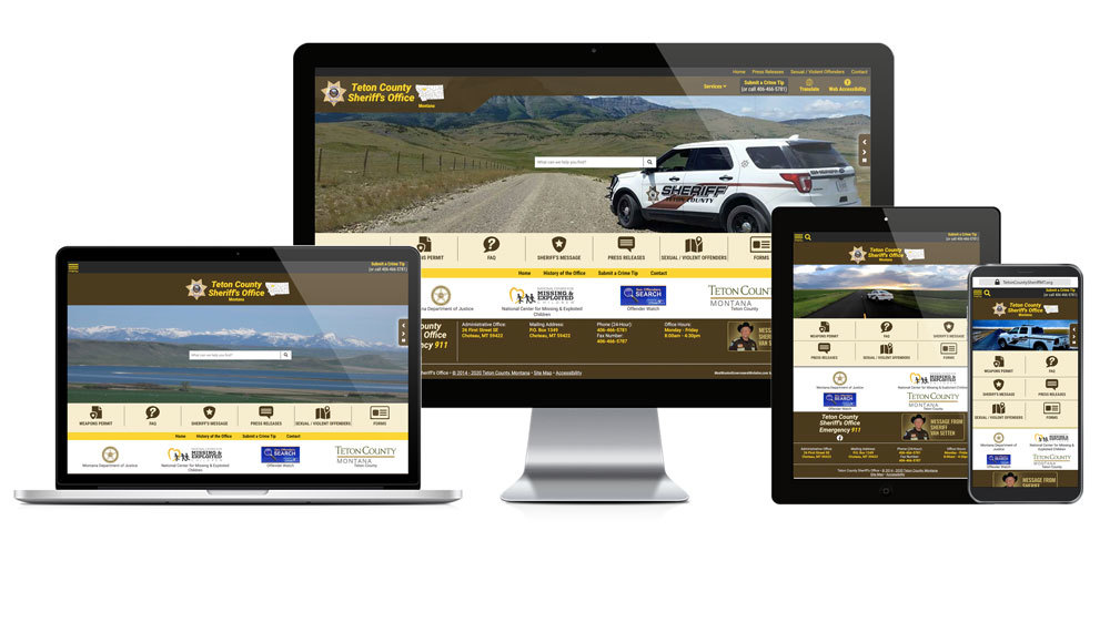 Teton County Sheriff's Office, Montana - Responsive Website