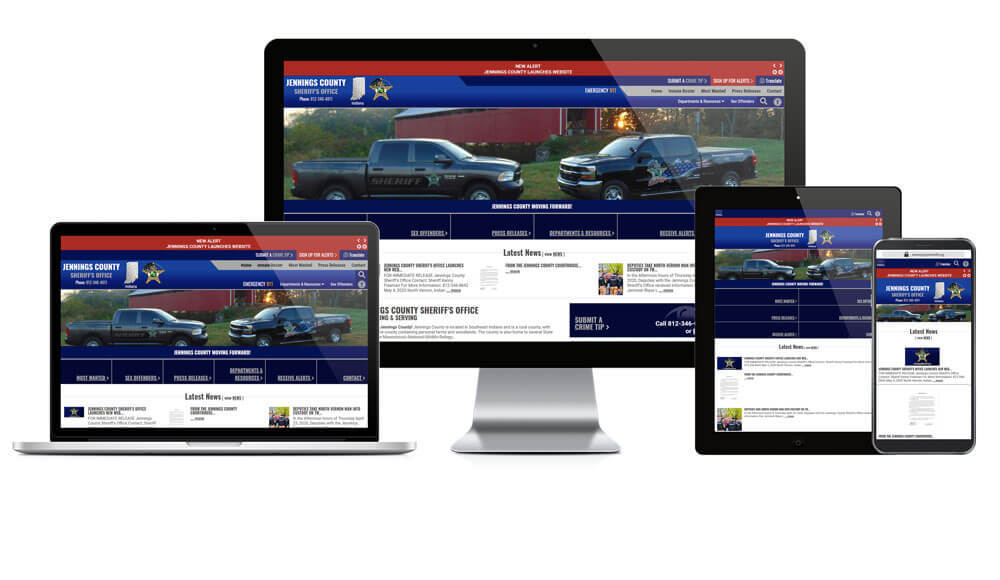 Jennings County Sheriff's Office, Indiana - Responsive Website