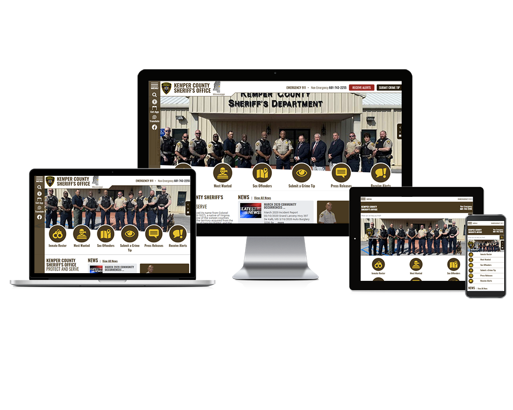 Kemper County Sheriff's Office, Mississippi - Responsive Website