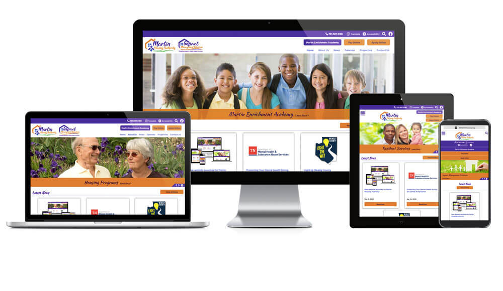 Martin Housing Authority, Tennessee - Responsive Website