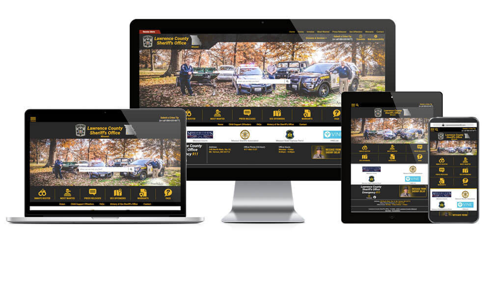 Lawrence County Sheriff's Office, Missouri - Responsive Website