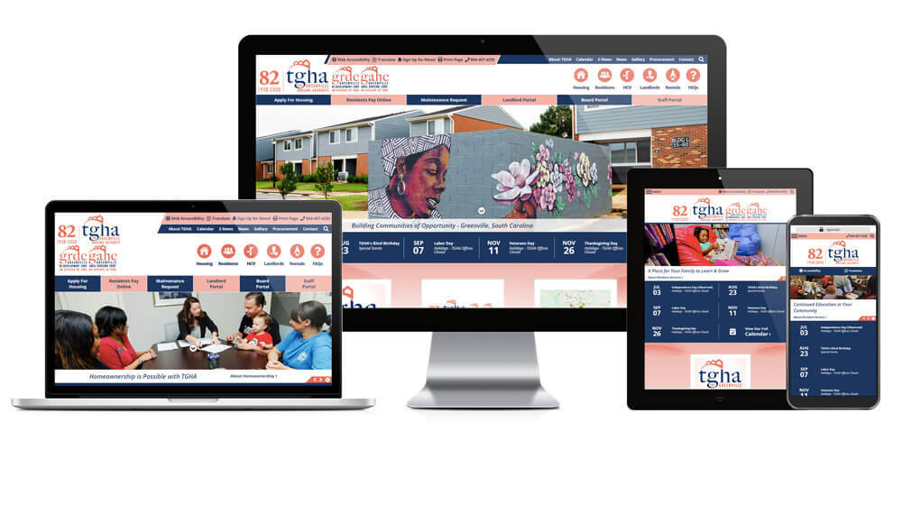 Greenville Housing Authority, South Carolina - Responsive Website