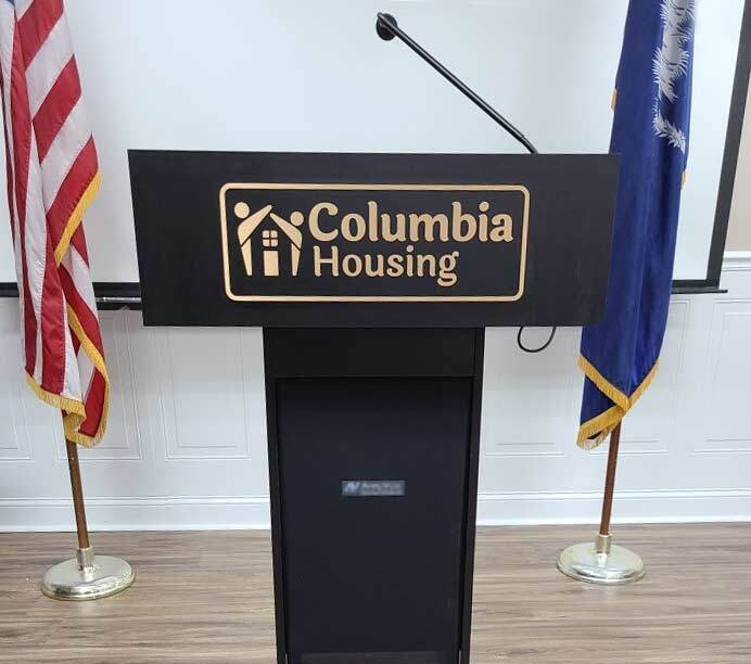 Columbia Housing Authority - Logo Branded Podium