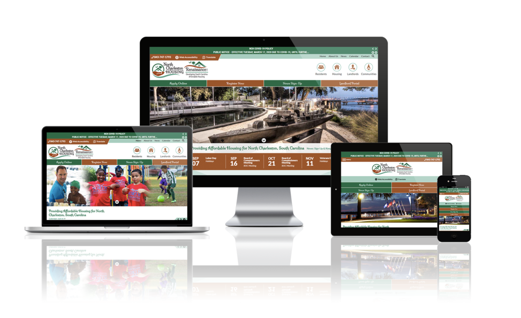 North Charleston Housing Authority, South Carolina - Responsive Website