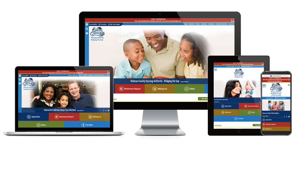 Robeson County Housing Authority, North Carolina - Responsive Website