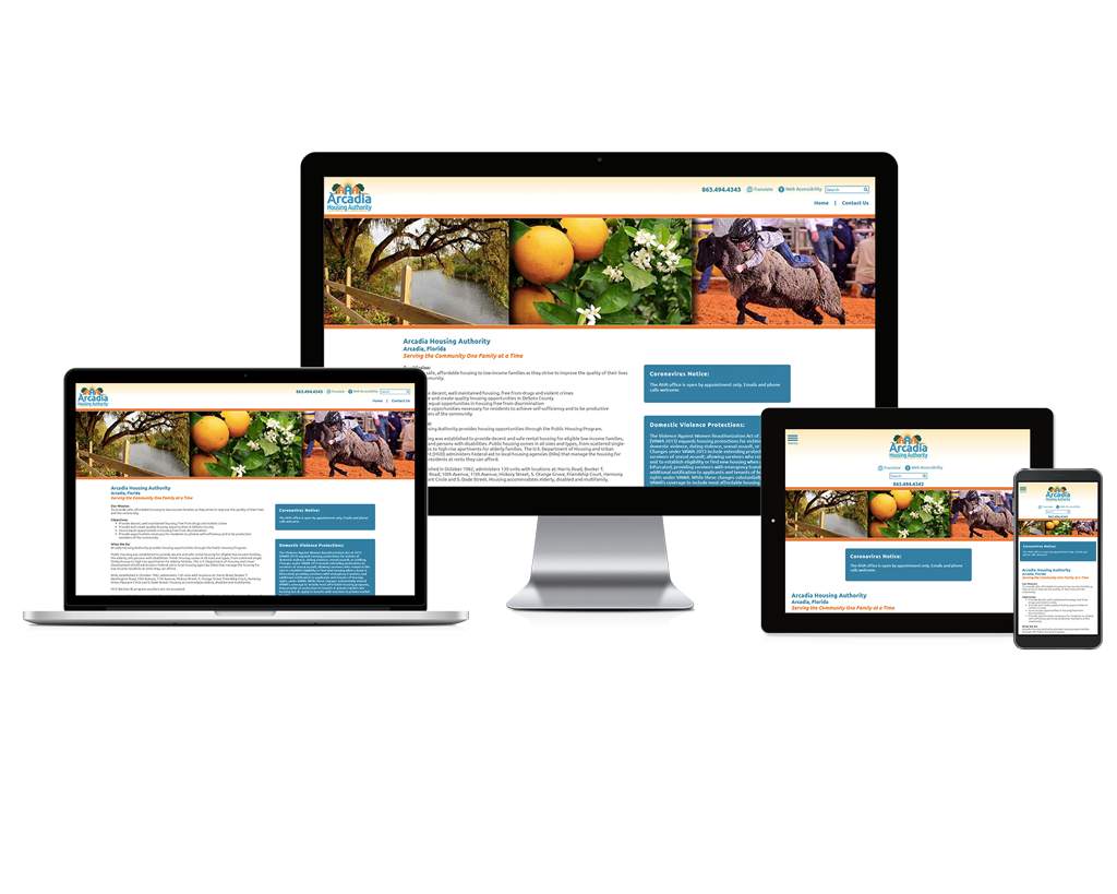 Arcadia Housing Authority, Florida - Responsive Website