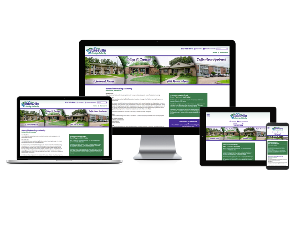 Batesville Housing Authority, Arkansas - Responsive Website
