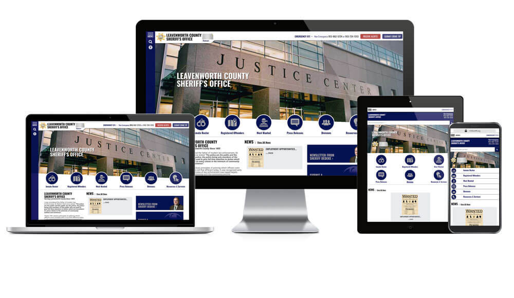 Leavenworth County Sheriff's Office, Kansas - Responsive Website