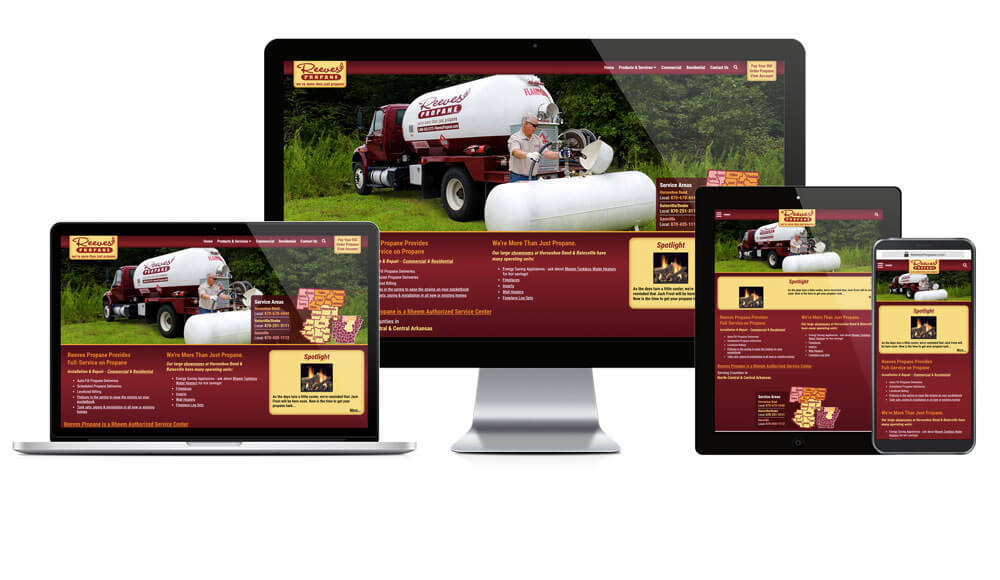 Reeves Propane  - Responsive Website