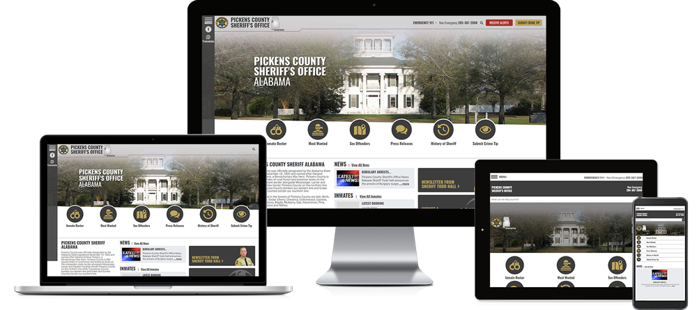 Pickens County Sheriff's Office, Alabama - Responsive Website