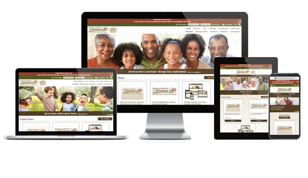Housing Authority of Newnan, Georgia - Responsive Website