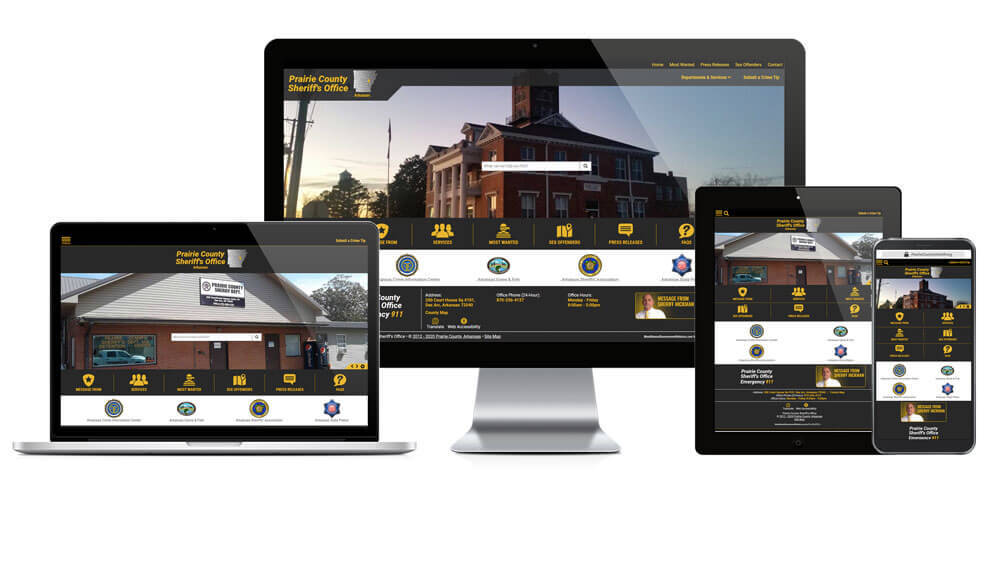 Prairie County Sheriff's Office, Arkansas - Responsive Website