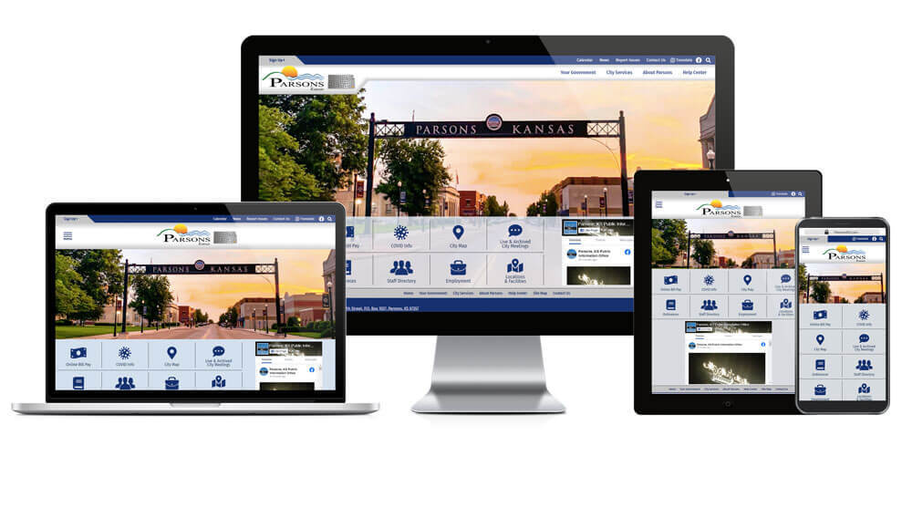 City of Parsons, Kansas - Responsive Website