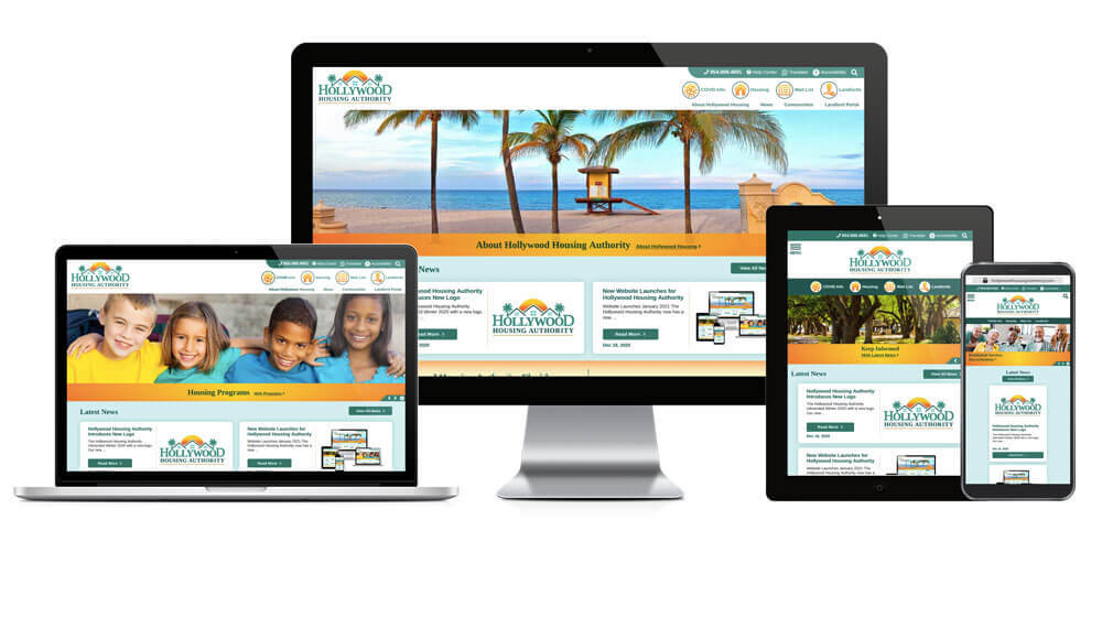 Hollywood Housing Authority, Florida - Responsive Website