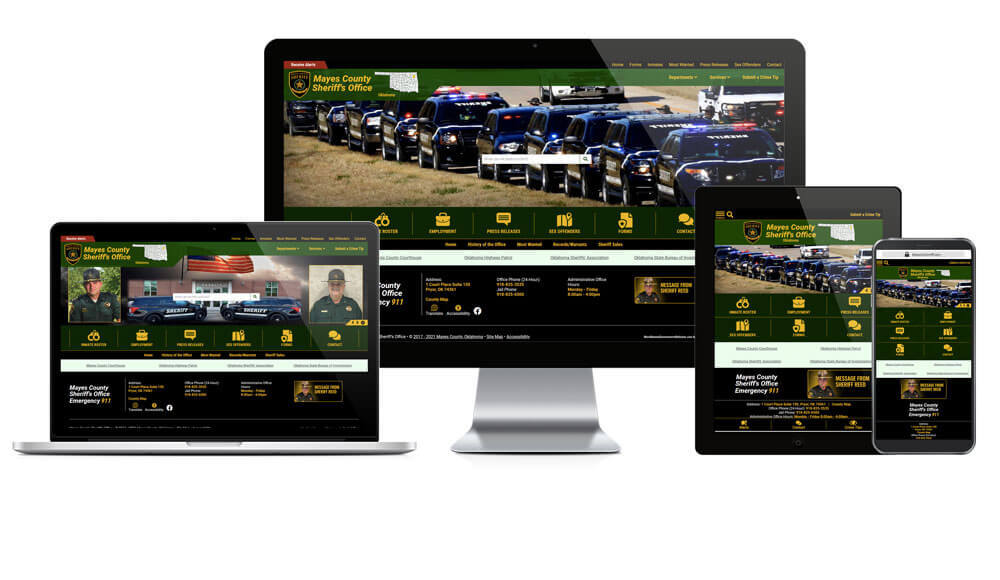 Mayes County Sheriff's Office, Oklahoma - Responsive Website