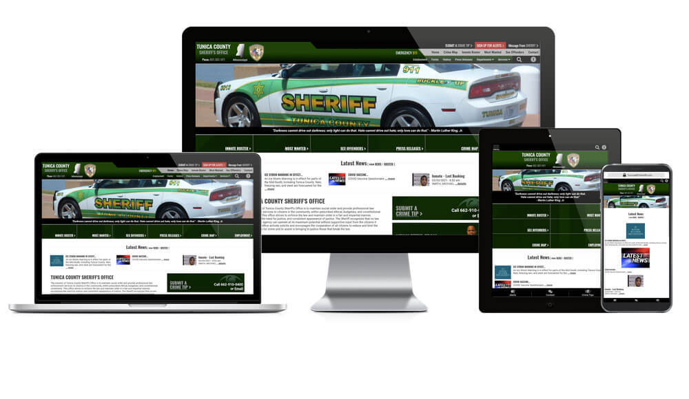 Tunica County Sheriff's Office - Responsive Website