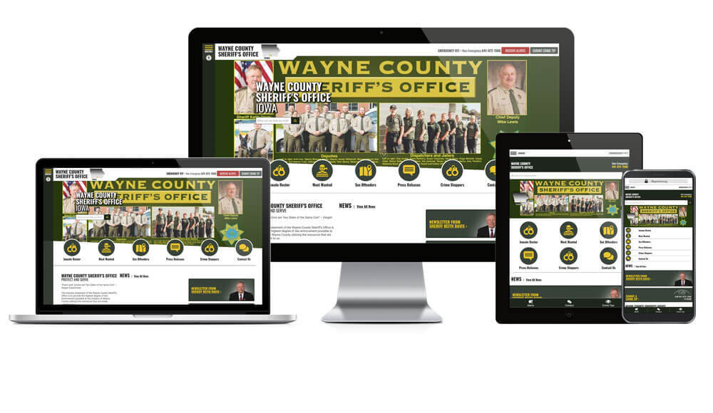 Wayne County Sheriff's Office, Iowa - Responsive Website