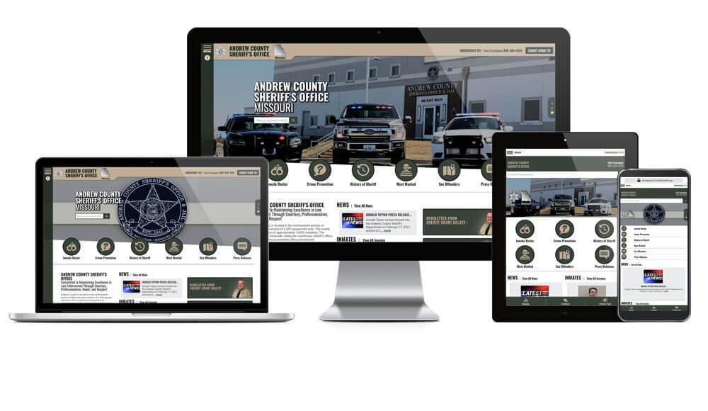 Andrew County Sheriff's Office, Missouri - Responsive Website