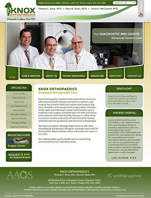 Knox Orthopaedics - Website, Mobile Site