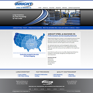 Wright Steel & Machine - Website, Mobile Site