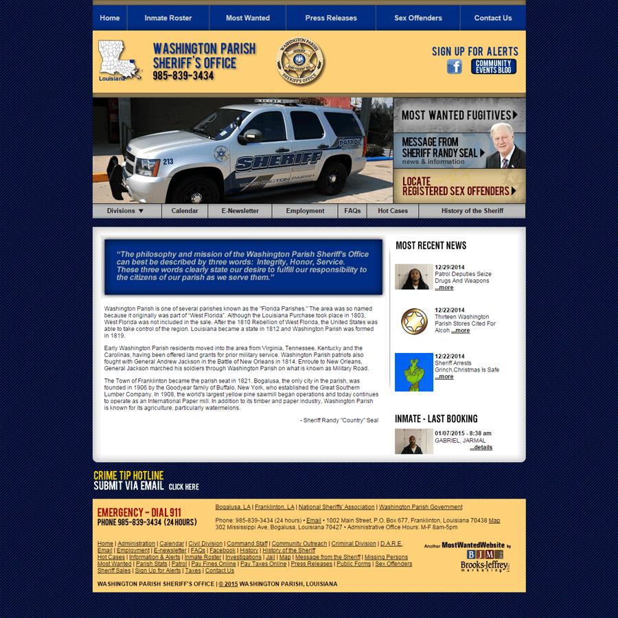 Washington Parish Sheriff - Brooks Jeffrey Marketing, Inc