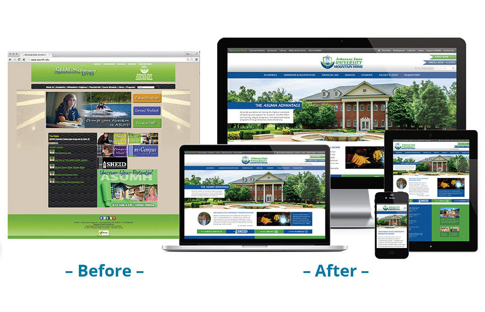 Arkansas State University - Mountain Home - Website - Before & After