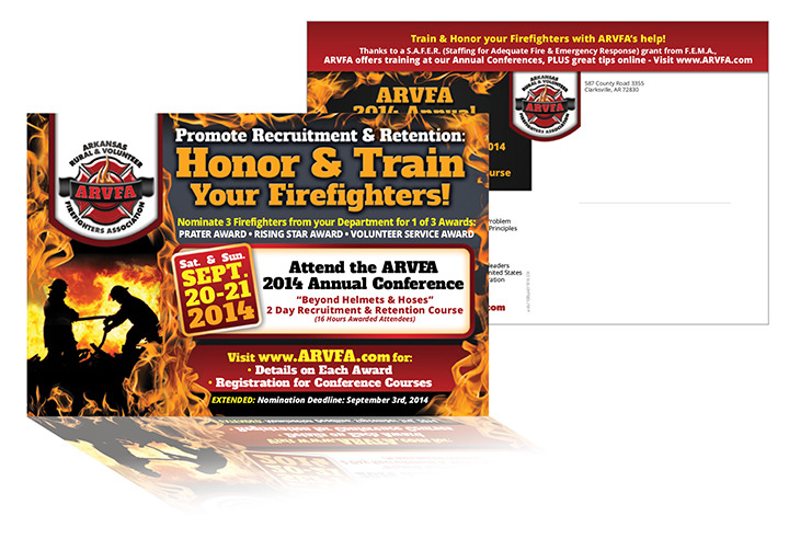 Arkansas Rural & Volunteer Firefighters Association - Postcard