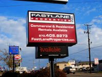 Fastlane Properties Inc. - Premise Sign
