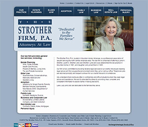 The Strother Law Firm, P.A. - Website