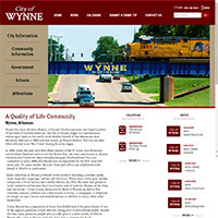 City of Wynne, Arkansas - Website, Mobile Site